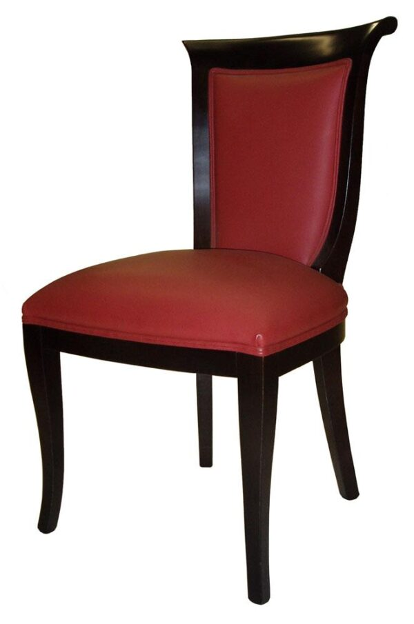 Ref.246 Chair Coil Sprung, Leather Red